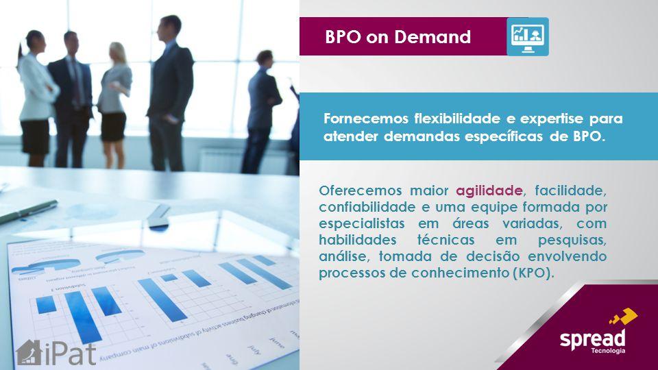 BPO on Demand Fornecemos flexibilidade e expertise para atender demandas específicas de BPO.
