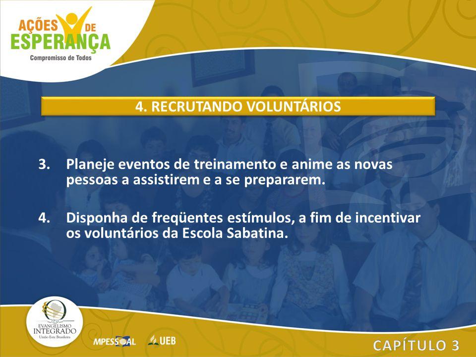 4. RECRUTANDO VOLUNTÁRIOS
