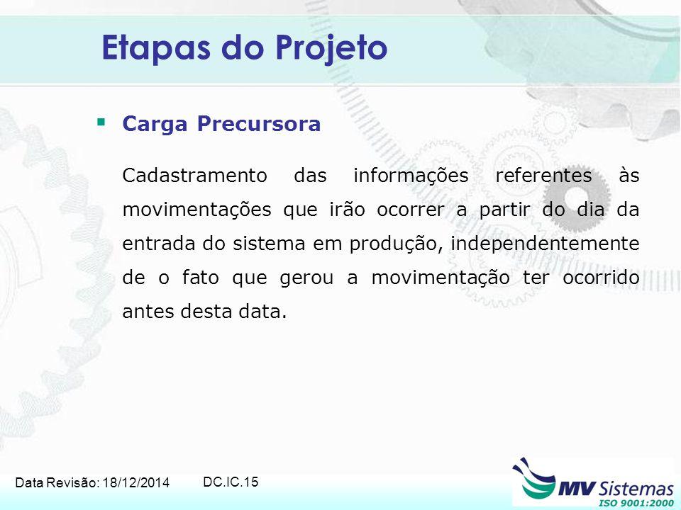 Etapas do Projeto Carga Precursora
