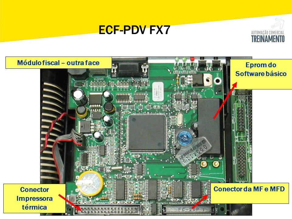 ECF-PDV FX7 Módulo fiscal – outra face Eprom do Software básico