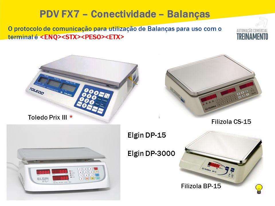 PDV FX7 – Conectividade – Balanças