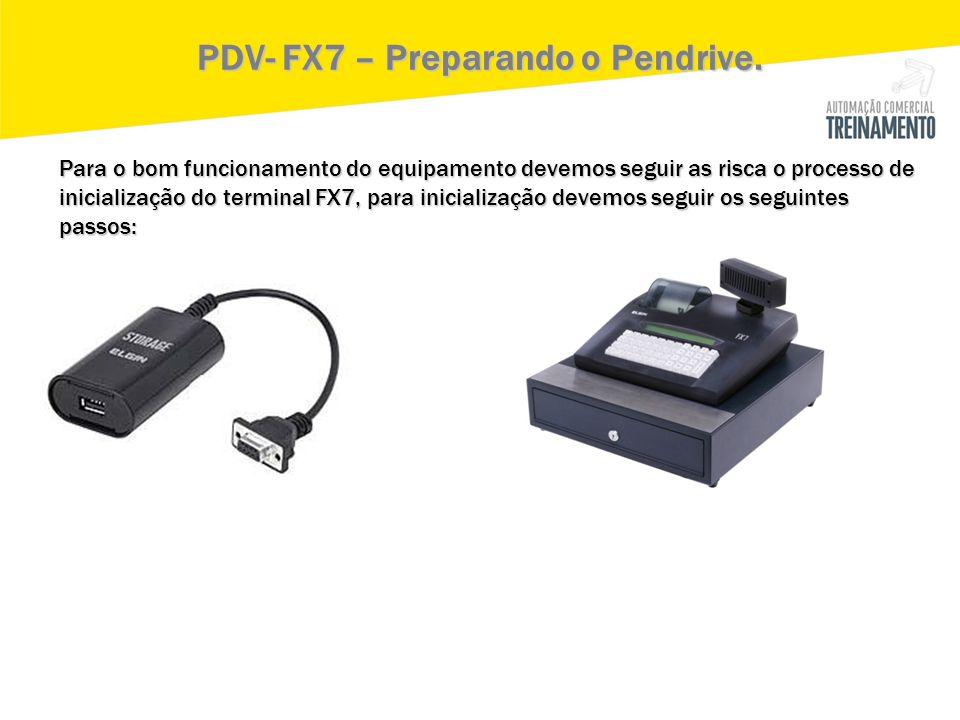 PDV- FX7 – Preparando o Pendrive.