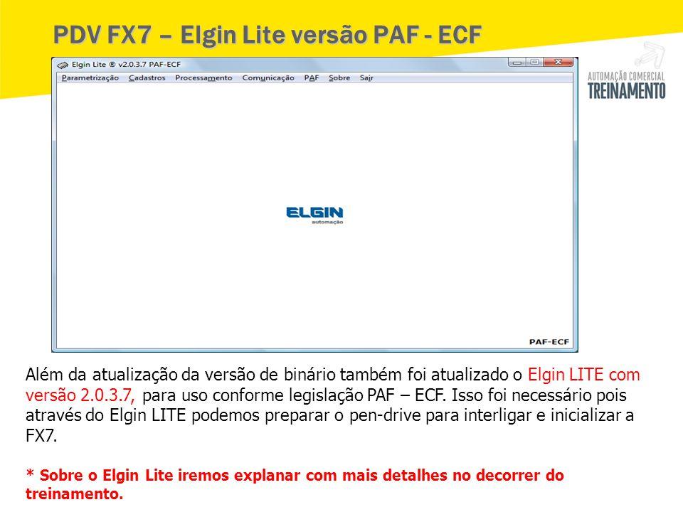 PDV FX7 – Elgin Lite versão PAF - ECF