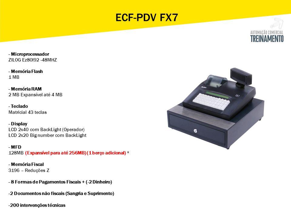 ECF-PDV FX7 - Microprocessador ZILOG Ez80l92 -48MHZ - Memória Flash