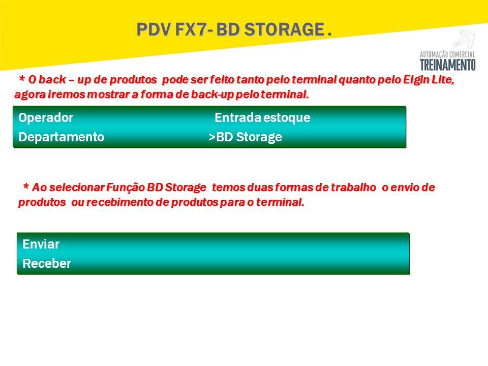 PDV FX7- BD STORAGE .