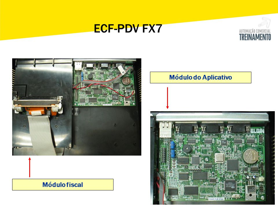 ECF-PDV FX7 Módulo do Aplicativo Módulo fiscal