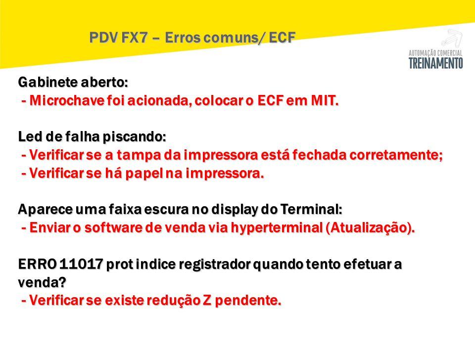 PDV FX7 – Erros comuns/ ECF