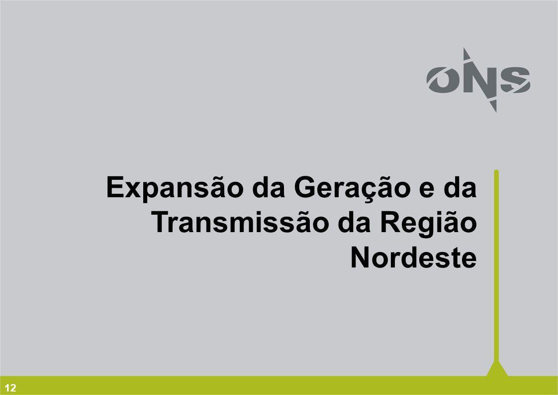 Expansão da Geração e da Transmissão da Região Nordeste
