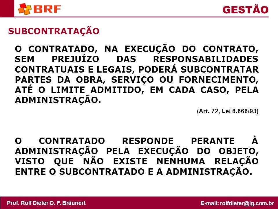 GESTÃO SUBCONTRATAÇÃO