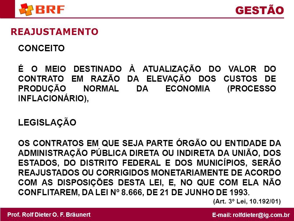GESTÃO REAJUSTAMENTO CONCEITO LEGISLAÇÃO