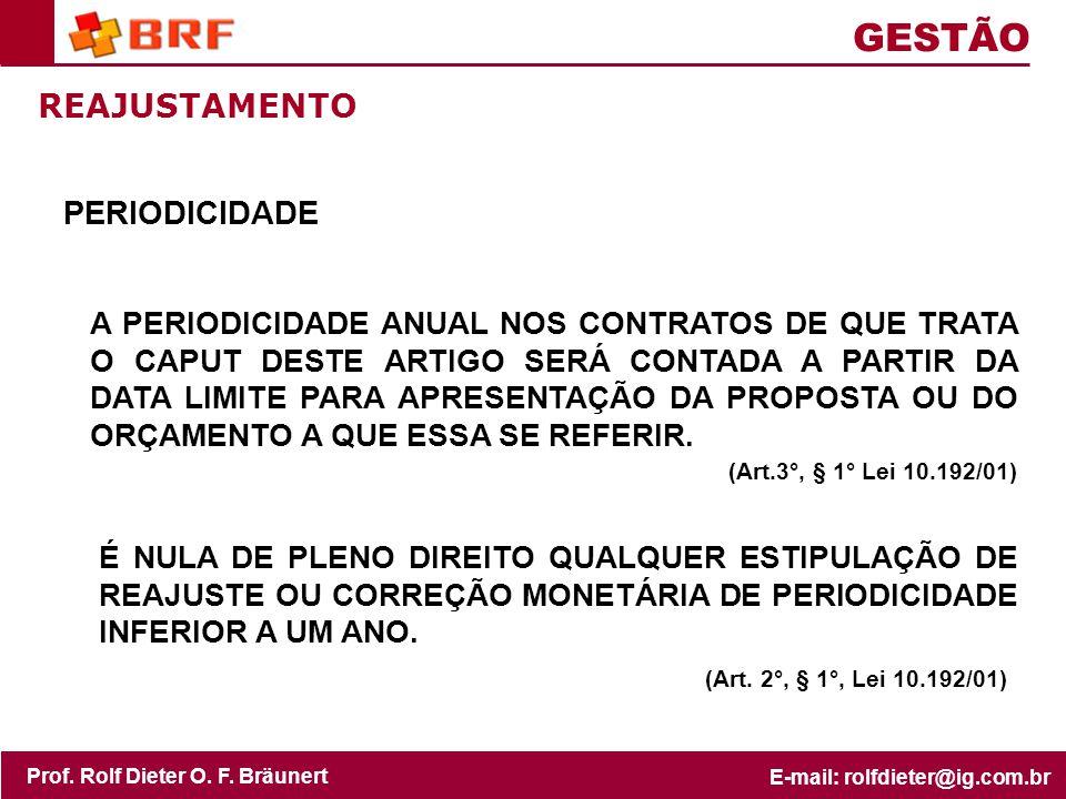 GESTÃO REAJUSTAMENTO PERIODICIDADE