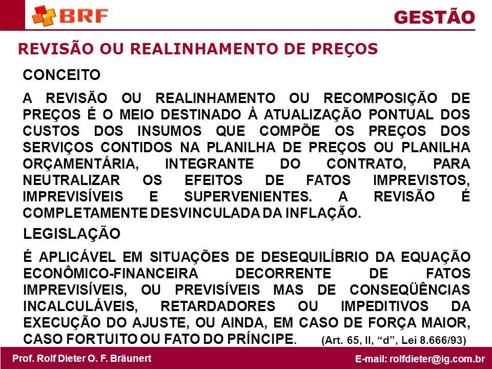 GESTÃO REVISÃO OU REALINHAMENTO DE PREÇOS CONCEITO LEGISLAÇÃO