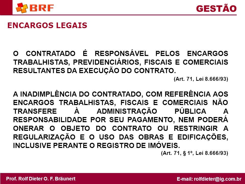 GESTÃO ENCARGOS LEGAIS