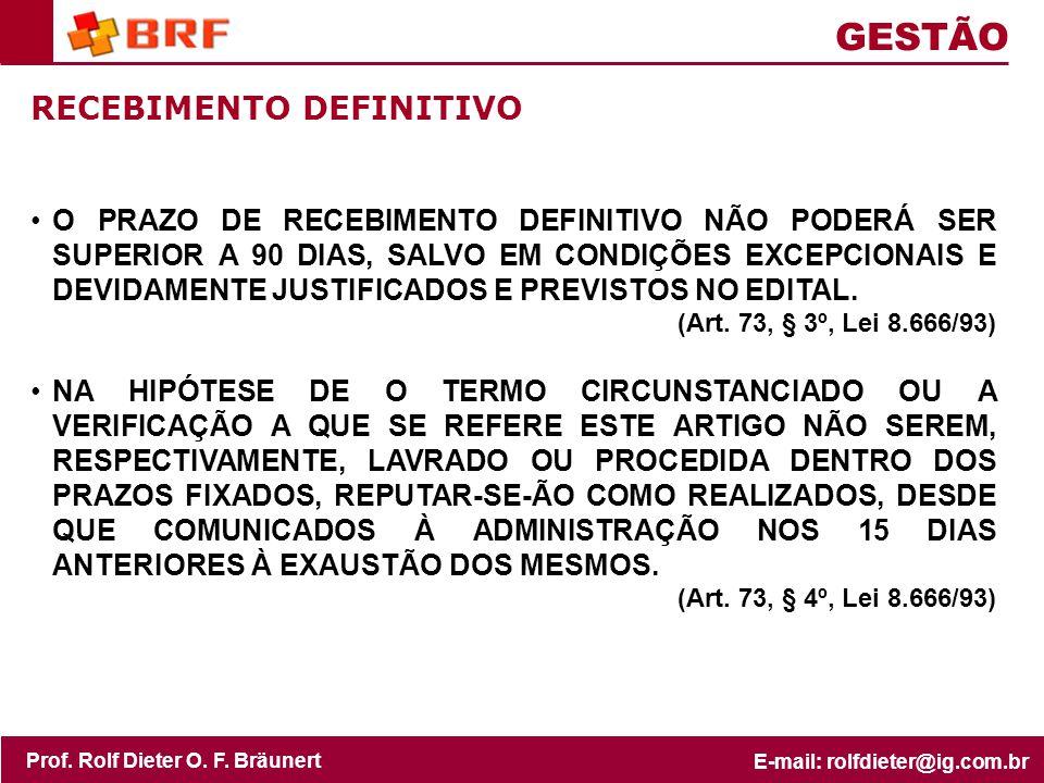 GESTÃO RECEBIMENTO DEFINITIVO
