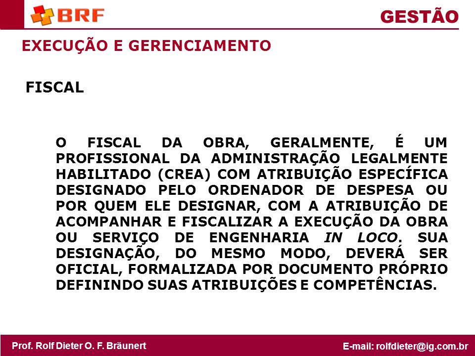 GESTÃO EXECUÇÃO E GERENCIAMENTO FISCAL