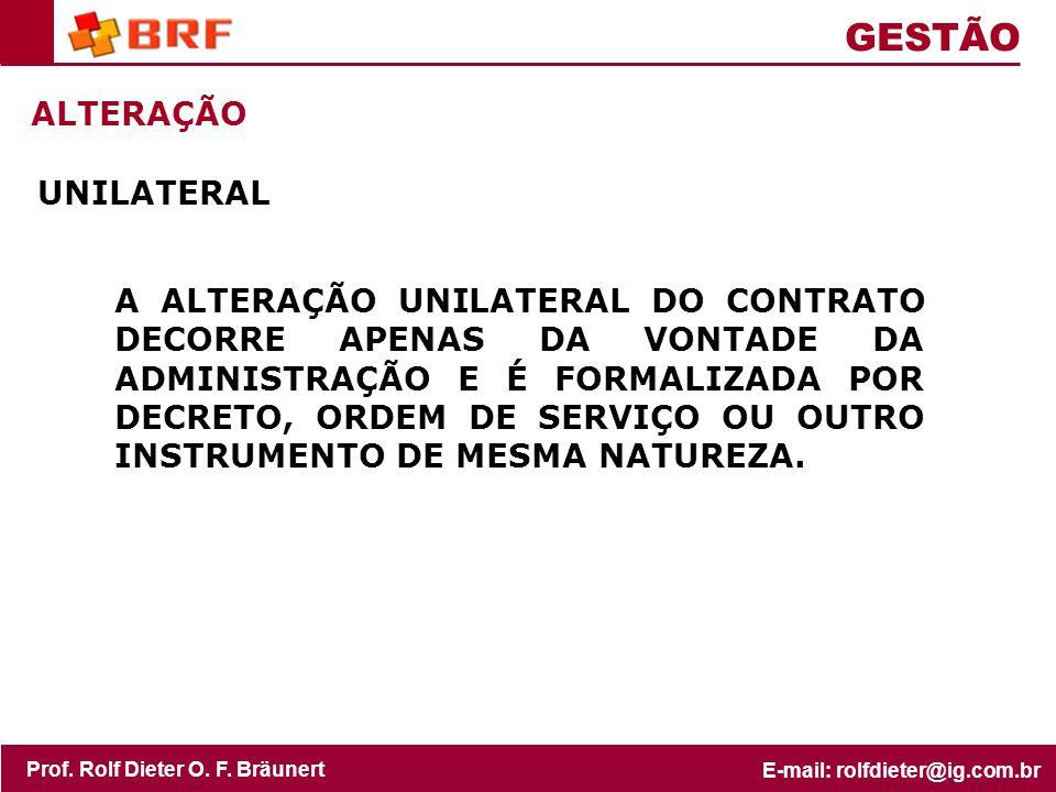 GESTÃO ALTERAÇÃO UNILATERAL