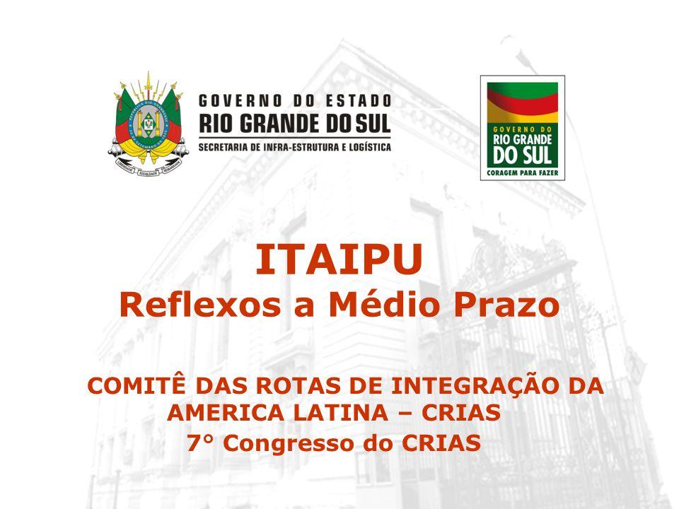 ITAIPU Reflexos a Médio Prazo