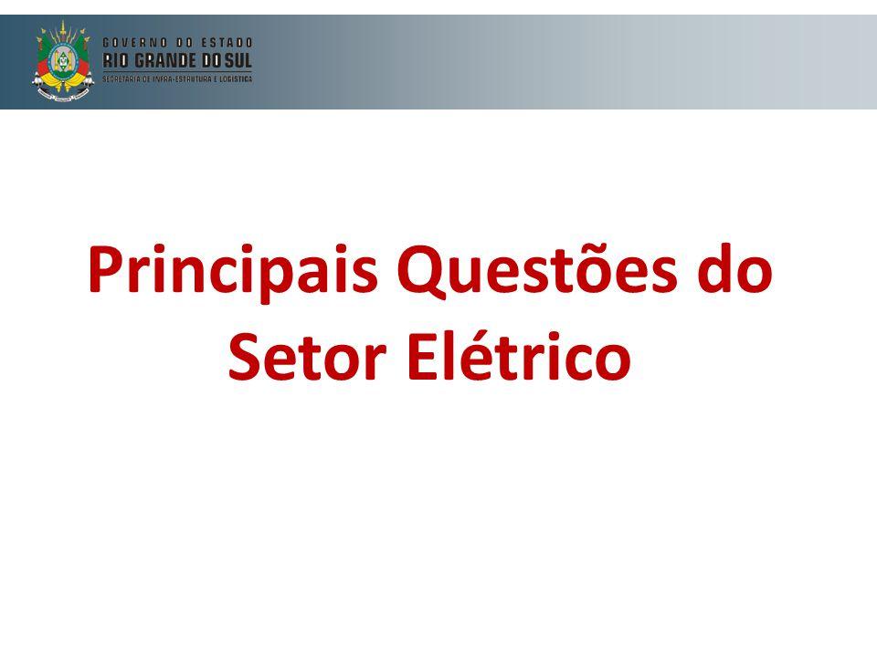 Principais Questões do Setor Elétrico