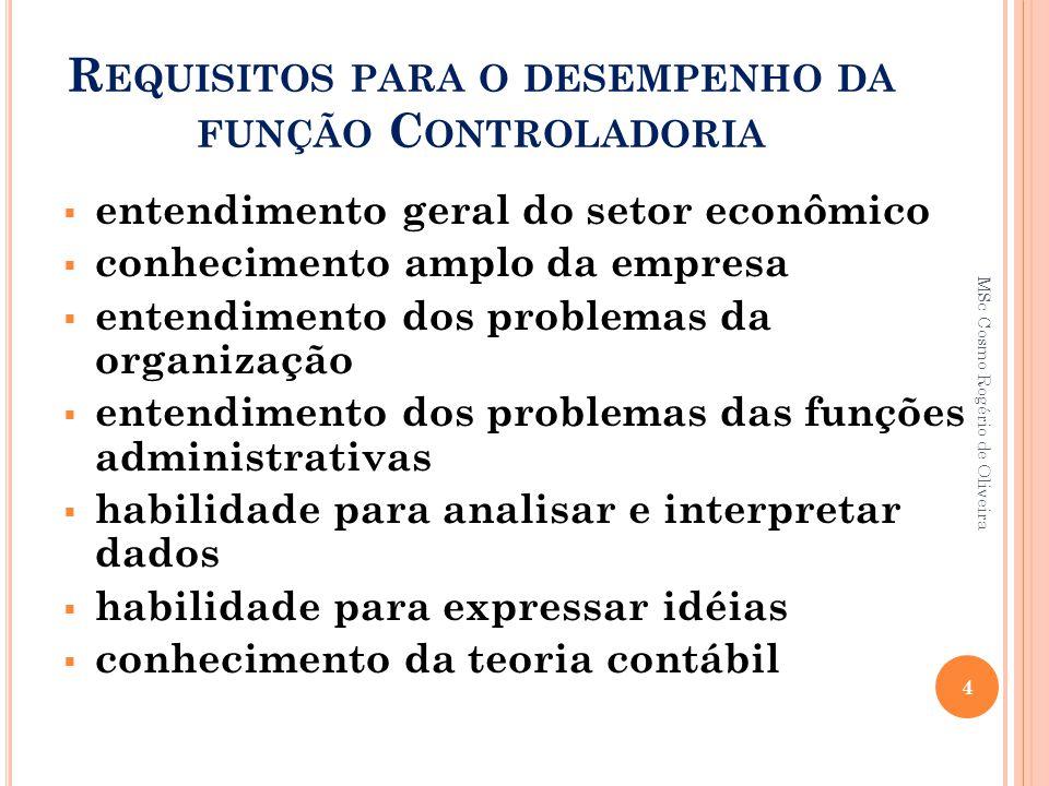 Requisitos para o desempenho da função Controladoria