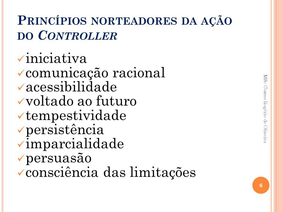 Princípios norteadores da ação do Controller