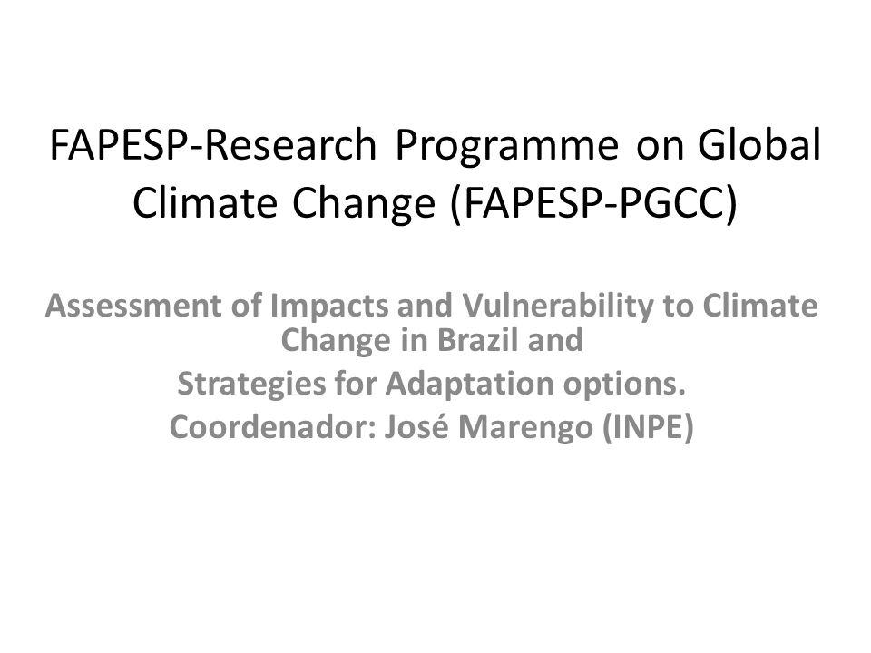 FAPESP-Research Programme on Global Climate Change (FAPESP-PGCC)