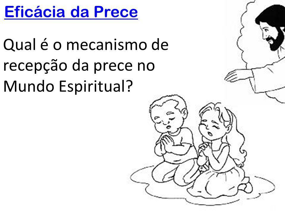 Qual é o mecanismo de recepção da prece no Mundo Espiritual