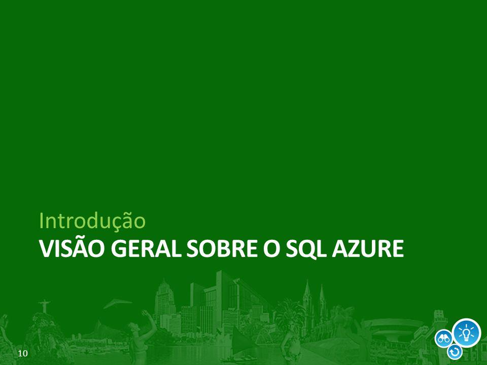 Visão geral sobre o SQL Azure