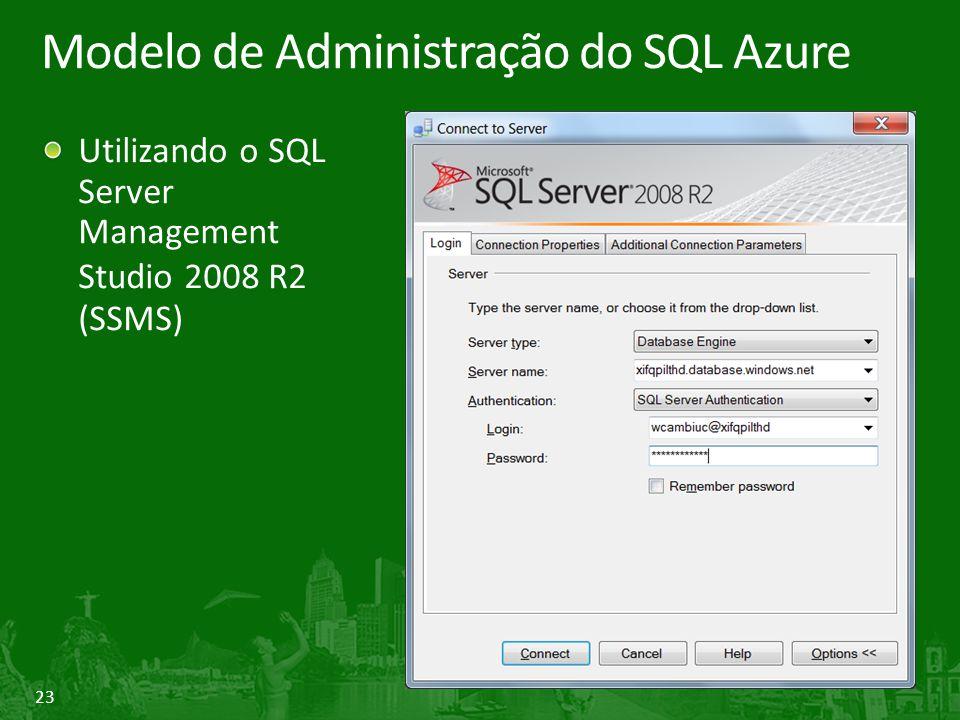 Modelo de Administração do SQL Azure