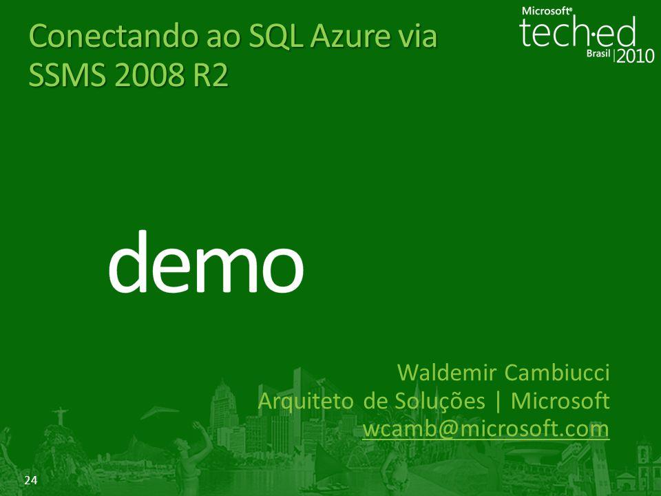 Conectando ao SQL Azure via SSMS 2008 R2