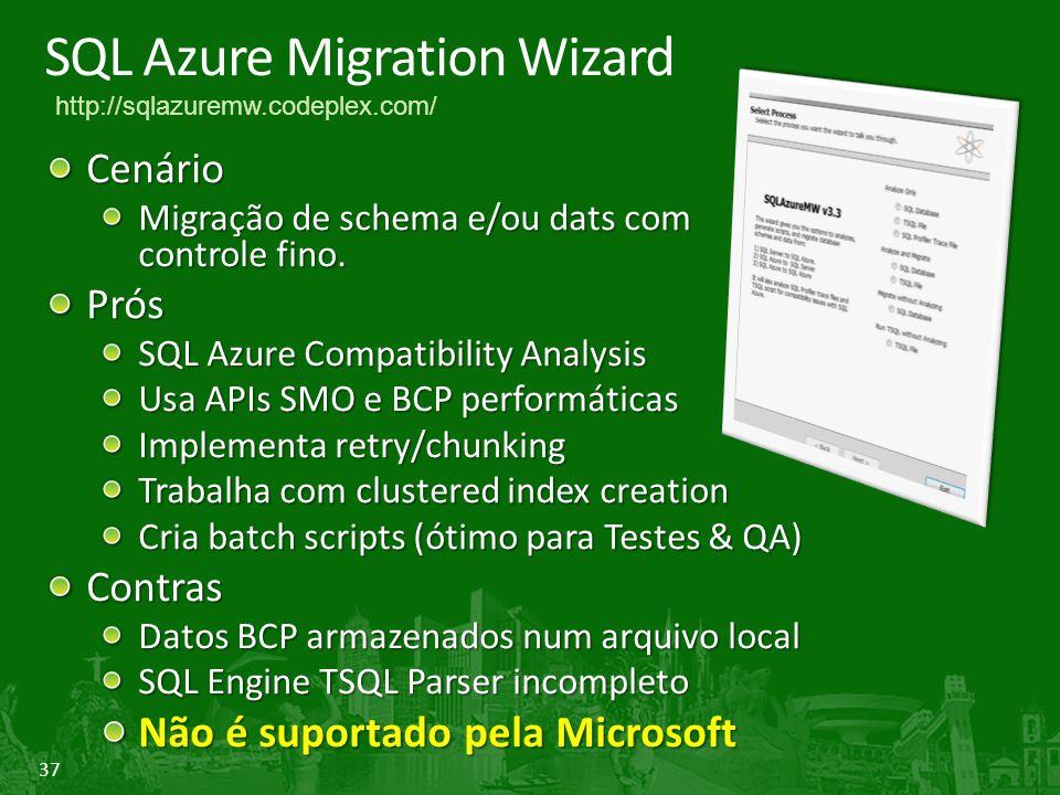 SQL Azure Migration Wizard
