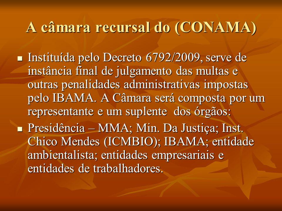 A câmara recursal do (CONAMA)