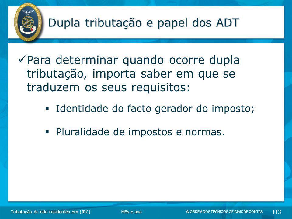 Dupla tributação e papel dos ADT