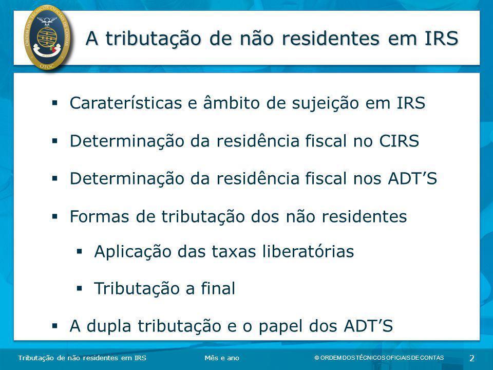 A tributação de não residentes em IRS