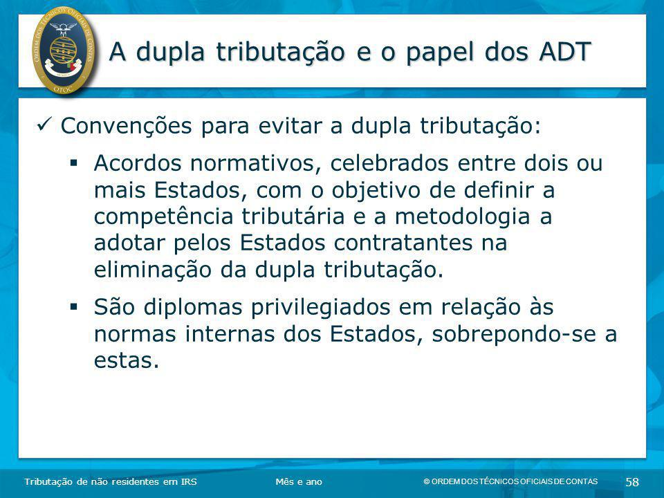 A dupla tributação e o papel dos ADT