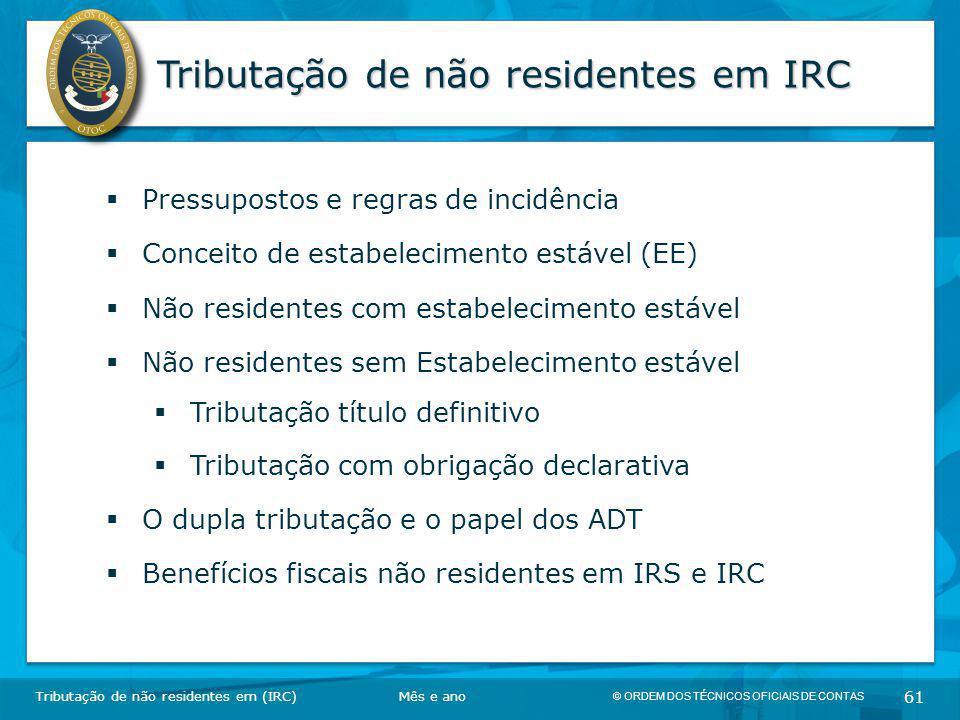 Tributação de não residentes em IRC