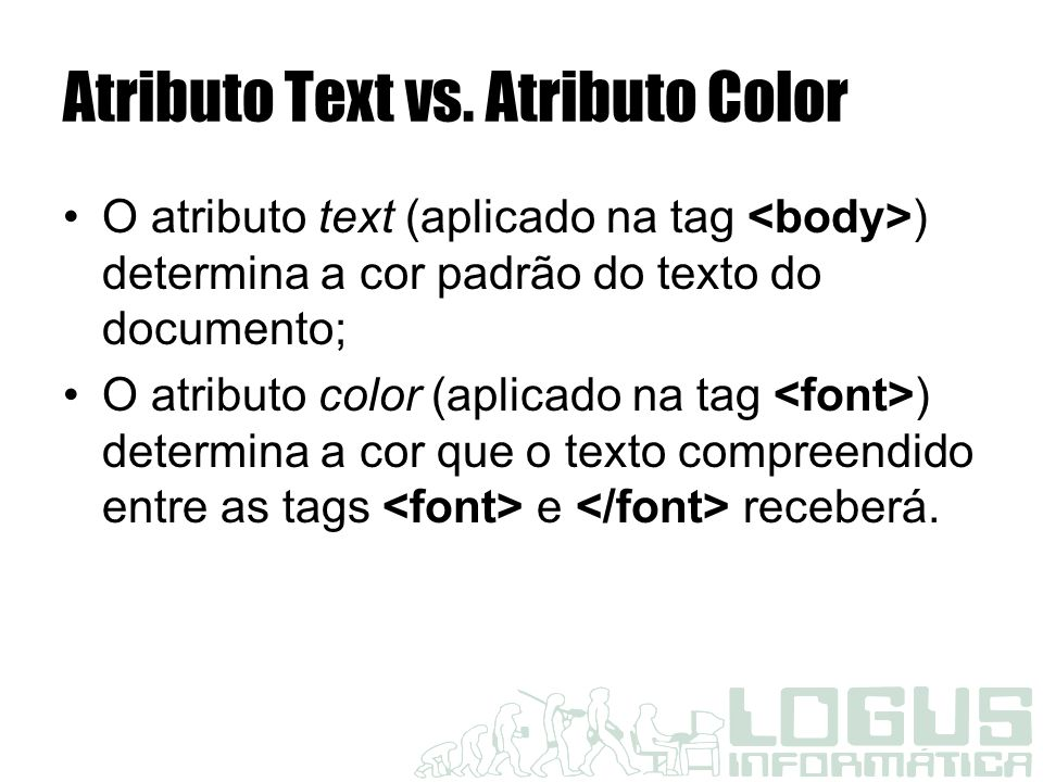 Atributo Text vs. Atributo Color
