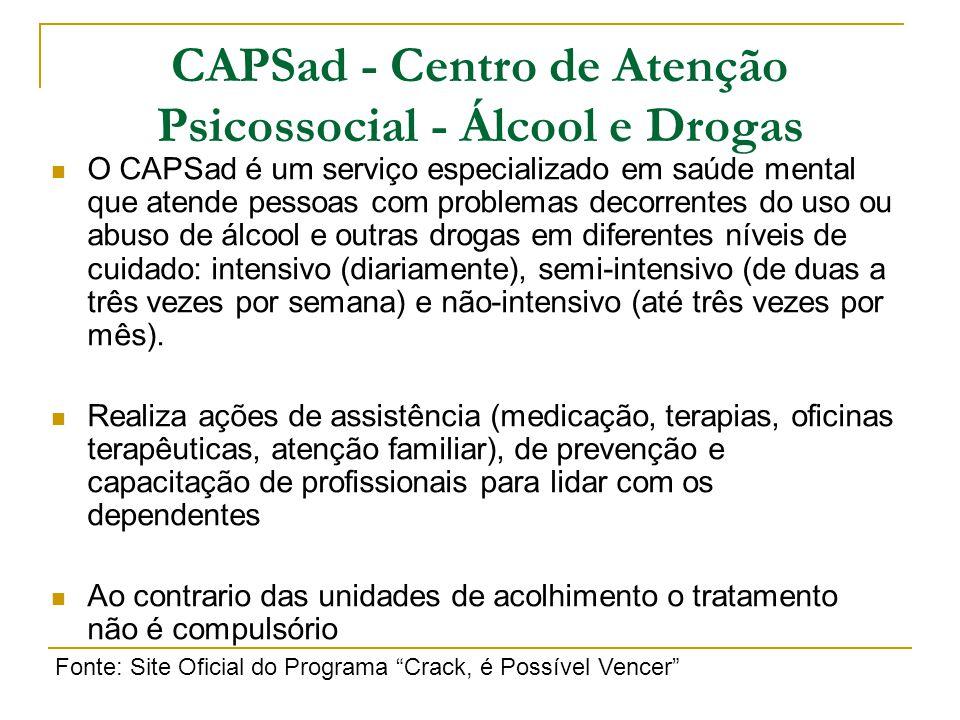 CAPSad - Centro de Atenção Psicossocial - Álcool e Drogas