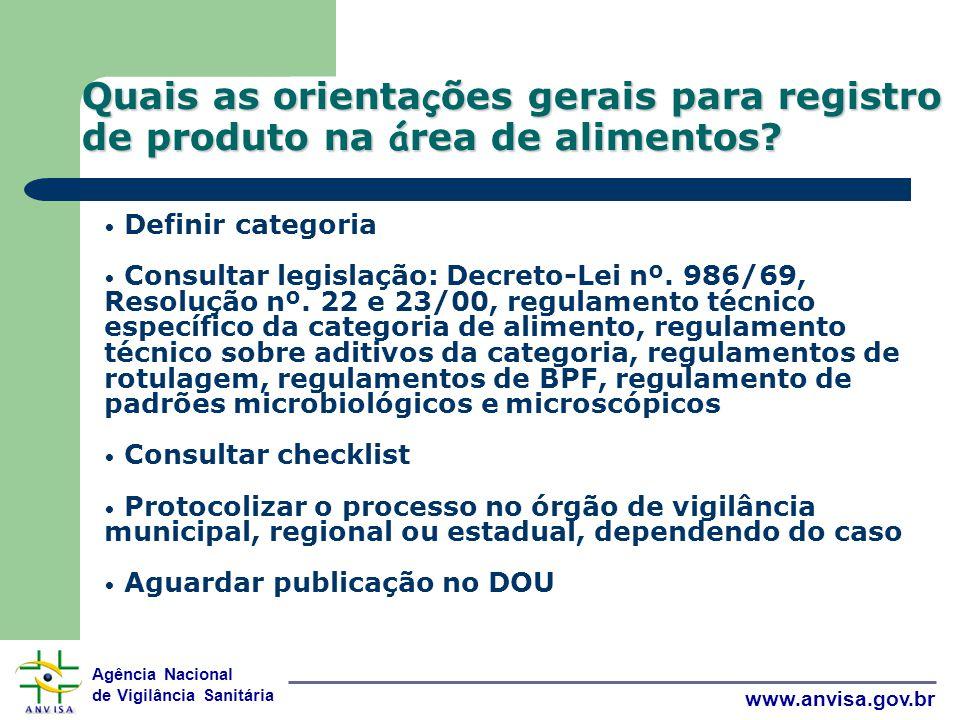 Quais as orientações gerais para registro