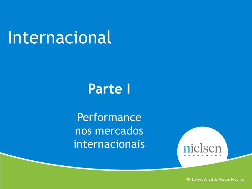 Parte I Performance nos mercados internacionais