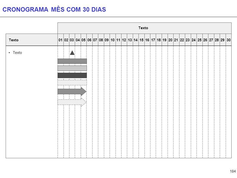CRONOGRAMA MÊS COM 31 DIAS