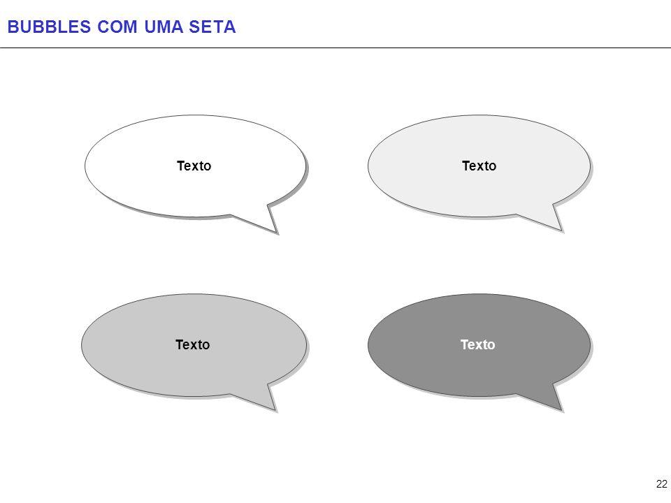 BUBBLES COM MAIS DE UMA SETA