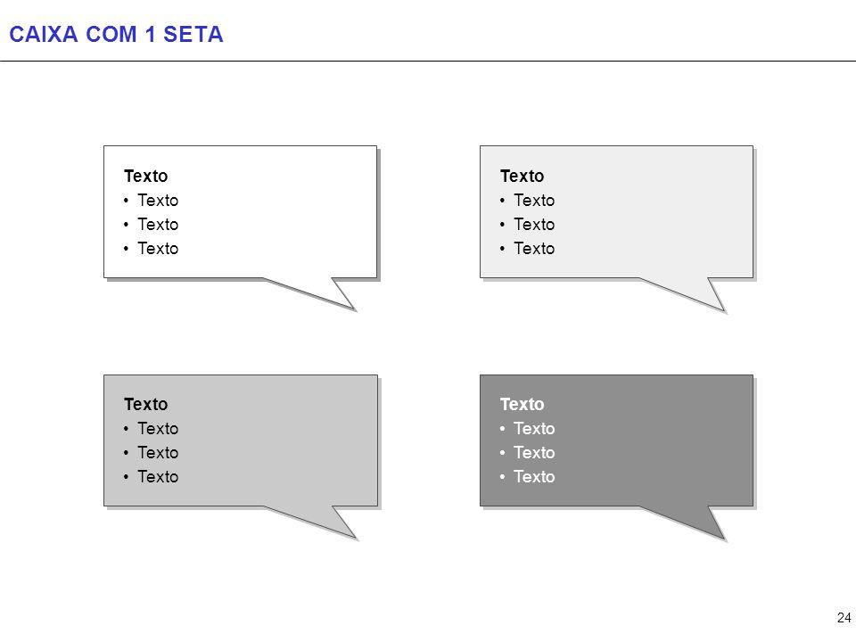 CAIXA MAIS DE 1 SETA + pontos Texto + pontos Texto + pontos Texto