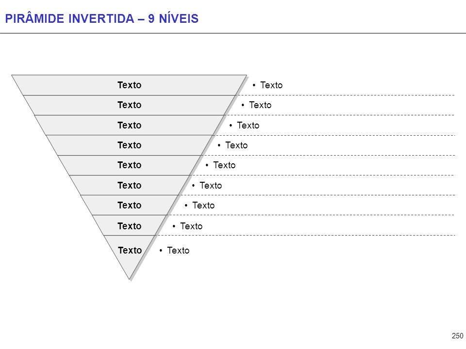 PIRÂMIDE INVERTIDA – 10 NÍVEIS