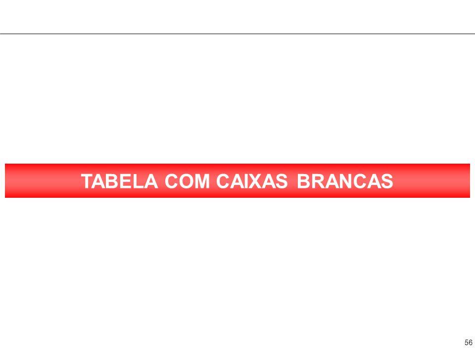 TABELA COM 2 CAIXAS BRANCAS