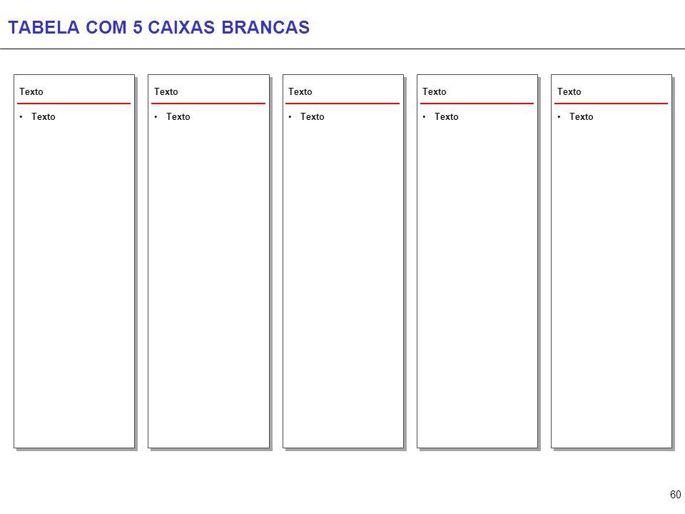 TABELA COM CAIXAS CINZA