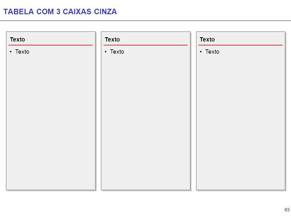 TABELA COM 4 CAIXAS CINZA