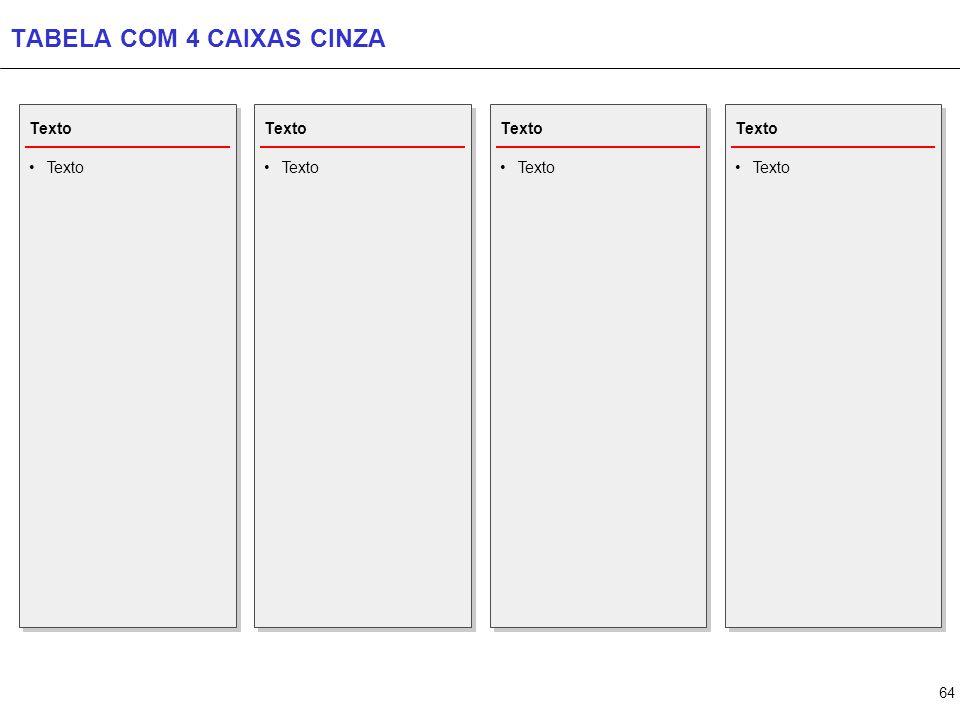 TABELA COM 5 CAIXAS CINZA