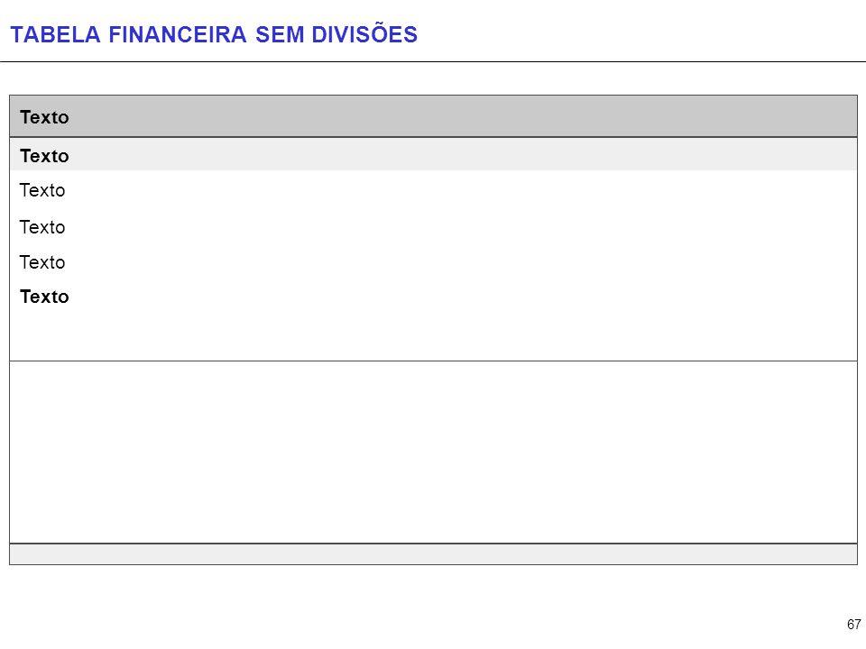 TABELA FINANCEIRA COM 1 DIVISÃO