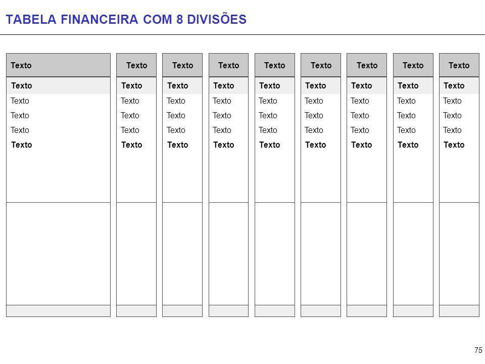 TABELA FINANCEIRA COM 9 DIVISÕES