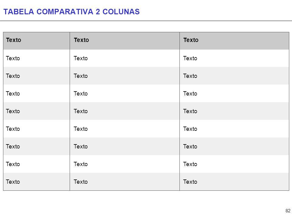 TABELA COMPARATIVA 3 COLUNAS